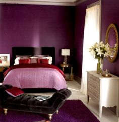 http://www.justsoakit.com/wp-content/uploads/2015/01/fashionable-bedroom-interior-design-in-violet-tones-with-purple-painting-wall-including-pink-red-duvet-cover-also-purple-fur-rug-beside-dresser-also-white-curtain-window-650x669.jpg