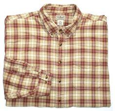 Vintage L.L.Bean Plaid Shirt Mens Size XXL