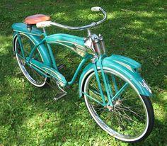 Monark Super Deluxe all original survivor. Boy's model twin to mine, also a survivor. Retro Bicycle, Old Bicycle, Cruiser Bicycle, Old Bikes, Vintage Cycles, Vintage Bikes, Cycling Art, Cycling Bikes, Cycling Quotes