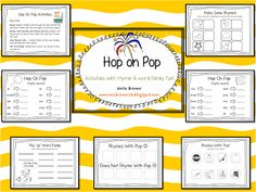 1000 images about rhyming and alliteration activities on for Hop on pop coloring pages