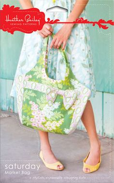 Saturday Market Bag - Sewing Pattern Bag Heather Bailey Womens Purse