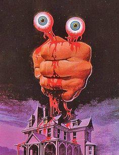 I prefered and horror comics. Arte Horror, Horror Art, Horror Films, Art And Illustration, Illustrations Posters, Horror Comics, Vintage Horror, Pulp Art, Psychedelic Art