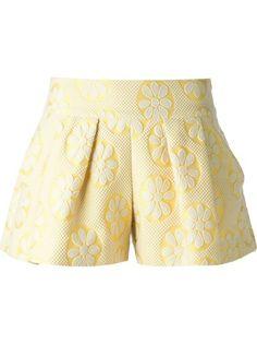 RED VALENTINO - floral jacquard shorts 6