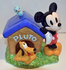 Disney's Mickey Mouse & Pluto BlueBird Dog House Talking Cookie Jar