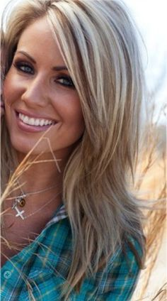 Long hair styles for women- love the color and style pictured