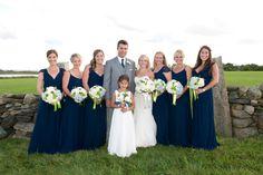 Country wedding with navy mix and match bridesmaid dresses Navy Blue Bridesmaid Dresses, Rustic Chic Decor, Alternative Wedding, Blue Wedding, Perfect Wedding, Real Weddings, Chiffon, Wedding Ideas, Colours