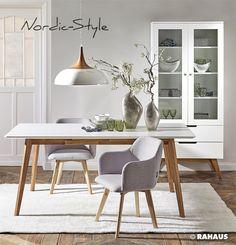 NORDIC STYLE #nordic #Berlin #Möbel #Interior #Design #wohnen #Tisch #table #Stuhl #chair #Vitrine #Leuchte #lamp #RAHAUS