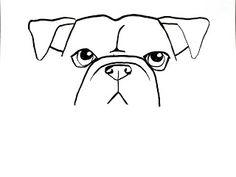 Bulldog draw along Animal Sketches, Animal Drawings, Dog Sketches, Drawing Animals, Bulldogs, Bulldog Drawing, Dog Steps, Dog Tattoos, Boxer Dog Tattoo