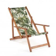 PALMERAL Armchair Deck Chair - White / Green