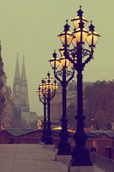 Vintage, Antique Lamps in #Vienna, #Austria - Photo from the christmas market by Icatus