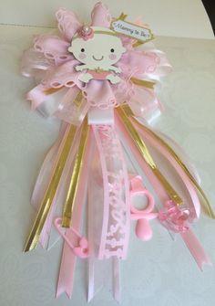 Princess Baby Shower Corsage ShowerBox Designs Find us on FB  #myshowerbox #princessbabyshower @MyShowerBox