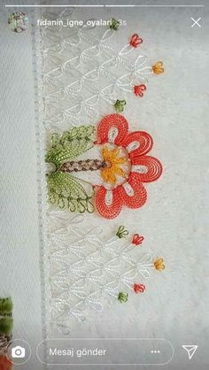 This Pin was discovered by Κασ Thread Art, Needle And Thread, Crochet Flowers, Crochet Lace, Crochet Unique, Needle Lace, Lace Embroidery, Lace Making, Bargello