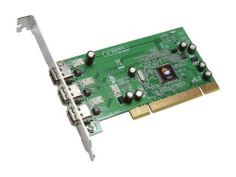 $23, SIIG 3-port 1394 (FireWire) PCI adapter Model NN-400012-S8 from Newegg; cheap & probably hack compatible, 3 FW400 ports, PCIx8  also available direct from Newegg at the same price: http://www.newegg.com/Product/Product.aspx?Item=N82E16800998056