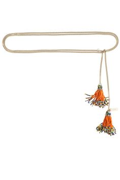 Beaded Tassle Lariat :: NECKLACES :: JEWELRY :: ACCESSORIES :: Calypso St. Barth