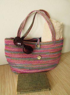 crochet tote bag oversized tote bag beach by ElizabethVirginiaAve