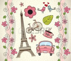Illustration of Love Paris background with differents icons vector illustration vector art, clipart and stock vectors. Owl Wallpaper, Retro Wallpaper, Tour Eiffel, Scrapbook Stickers, Scrapbook Paper, Paris Amor, Paris Background, Banner Printing, Cute Wallpapers