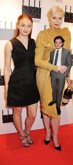 Sophie Turner Gwendoline Christie Kit Harrington hot meme Imgur Sansa Stark height Brienne of Tarth photoshop short Jon Snow, the mighty warr... Oh... FIXED Imgur