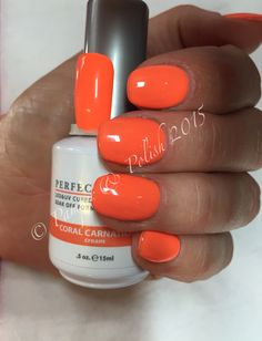 Le Chat Perfect Match nails in gorgeous Coral Carnation