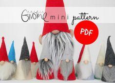 Gnome Pattern PDF for Scandinavian mini Tomte ,Digital Download, Tutorial, Tomte, Tomten, Nisse, Santa by Nordic Gnome