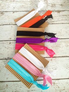These little hair ties are the new trend, but they can be quite pricey in stores. You can't go wrong with these elastic hair ties! Strong, stretchy a