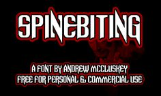 Spinebiting font by NAL - FontSpace
