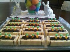 Easter snacks for Kids' classes. Carrot gardens. 2011