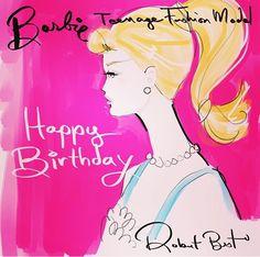 Happy Birthday Barbie - Sketch by Robert Best