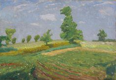 """Sommerliche Felder"""", Worpswede von Fritz Overbeck ..."""