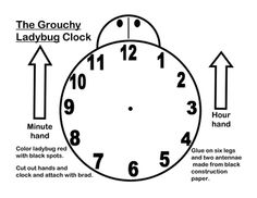 Grouchy Ladybug Clock for telling time