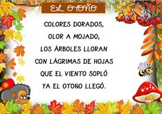 Plastificando ilusiones Preschool Poems, Spanish Immersion, Bilingual Classroom, Autumn Activities, Spanish Language, Interactive Notebooks, Projects To Try, Creative, Fall