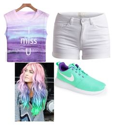 One of my favs by skylakilgore on Polyvore featuring polyvore, fashion, style, Pieces and NIKE