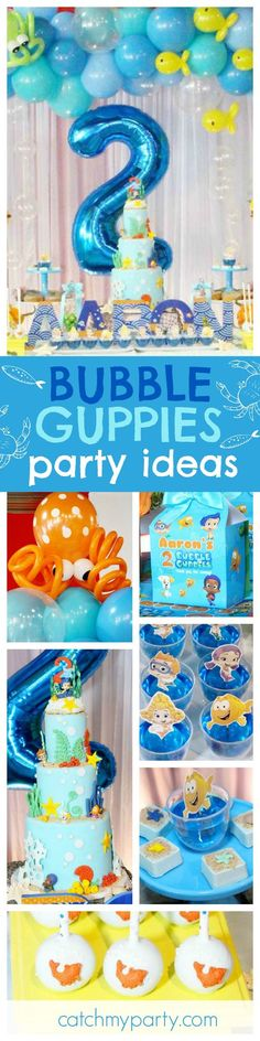 Jump under the sea into this fantastic Bubble Guppies Birthday Party. The cake is amazing!! See more party ideas and share yours at CatchMyParty.com