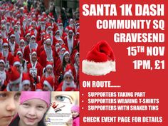 Santa Dash in Grasvesend in support of our Stacey Mowle Appeal.