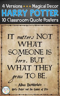 elementary classroom decor Harry Potter Quote Posters - Decorate your elementary classroom bulletin boards with this printable set of inspirational Harry Potter quote posters Elementary Classroom Themes, Classroom Decor, Classroom Posters, Classroom Design, Harry Potter Goblet, Harry Potter Decor, Inspirational Classroom Quotes, Inspirational Harry Potter Quotes, Harry Potter Birthday Quotes