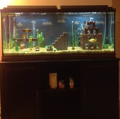 super mario fish tank aquarium, a how to of sorts, lots of good pictures.