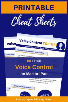 Teaching you to become successful using speech recognition with Dragon on Windows or Apple Voice Control on the Mac. Find out how to get started! Voice Type, The Voice, Repetitive Strain Injury, Google Voice, Speech Recognition, I Really Love You, Assistive Technology, Dyslexia, Cheat Sheets
