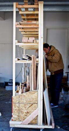 scrap wood storage rack
