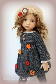 38 Best Ideas For Dress Pattern Babydoll Crochet Doll Clothes, Knitted Dolls, Girl Doll Clothes, Doll Clothes Patterns, Crochet Dolls, Barbie Clothes, Girl Dolls, Dress Clothes, Cute Dolls