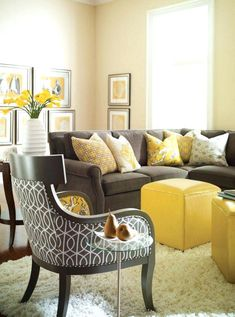 Image result for living room decor navy yellow