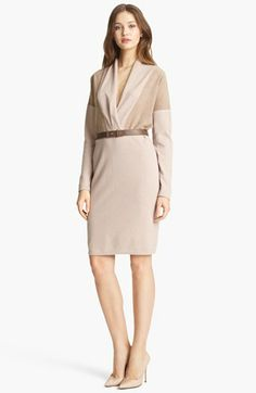 Fabiana Filippi Suede Detail Dress available at #Nordstrom FIERCE!!!!