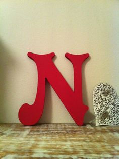 Victorian Decorative Wall Letter 'N'  Any Colour  by LoveLettersMe