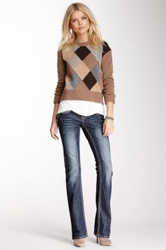 Mohair Scroll Pocket Bootcut Jean on HauteLook