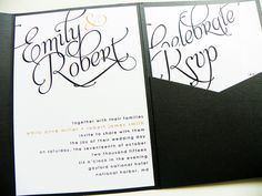 Pocketfold Wedding Invitations. love these neat little packets for all the invitations pieces!