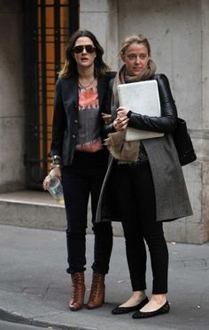 Drew Barrymore went to Chanel's Showroom, Rue Cambon, behind Ritz's Hotel, with a friend in Paris.