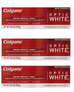Colgate Optic White Toothpaste Sparkling Mint 0.85 Oz Travel Size (Pack of 3) >>> More info could be found at the image url.