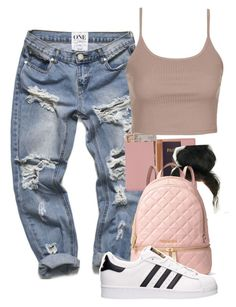 """Untitled #691"" by zayani ❤ liked on Polyvore featuring Royce Leather, Topshop, MICHAEL Michael Kors and adidas"