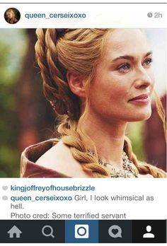 "If Cersei Lannister From ""Game Of Thrones"" Had An Instagram"