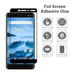 Full Screen Coverage Tempered Glass Screen Protector For Nokia / / Plus / Plus / / / Nokia C1, Glass Film, Tempered Glass Screen Protector, Nct