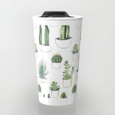 Buy watercolour cacti and succulent Travel Mug by Vicky Webb. Worldwide shipping available at Society6.com. Just one of millions of high quality products available.