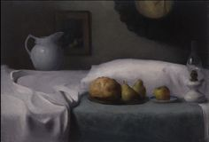 By Dana Levin. Bed of Abundance, 24x30 inches, oil on linen.  Inspired by Dutch 17th century paintings.  You can get a reproduction for a great price at  http://1-dana-levin.artistwebsites.com/